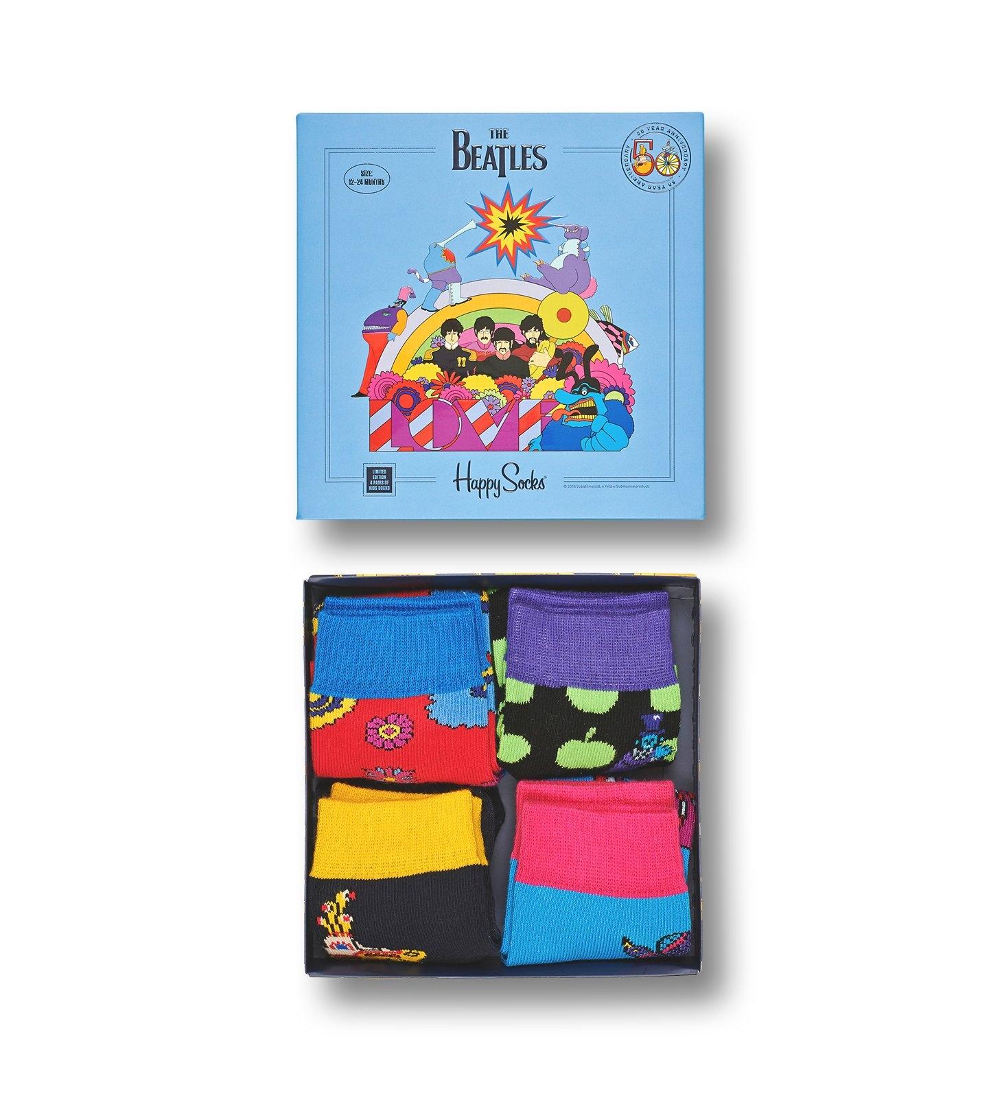 Baby ponožky Happy Socks 4 Ks na 1-2 roky