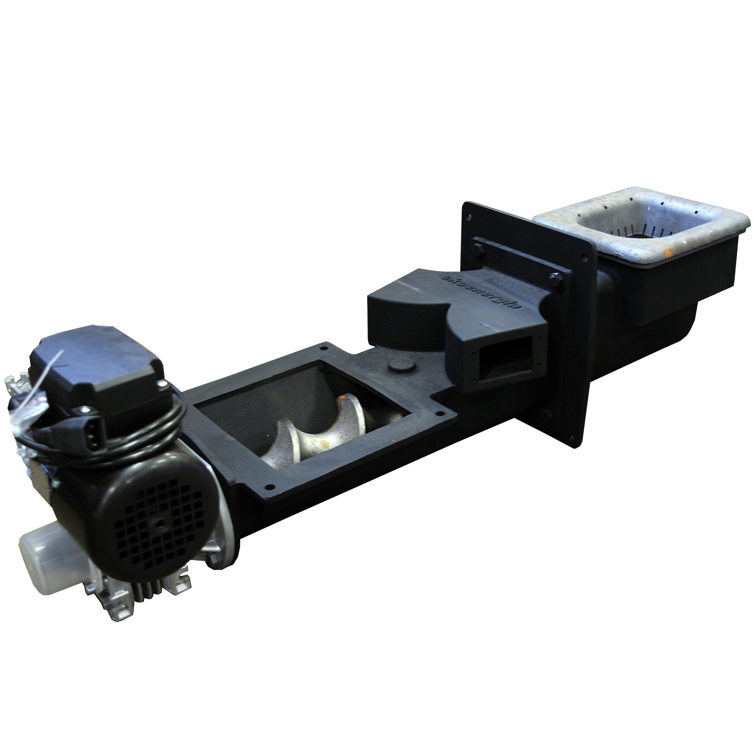 Liatinový podávač, závitovka pre pec s výkonom 25 kW od firmy DOMER