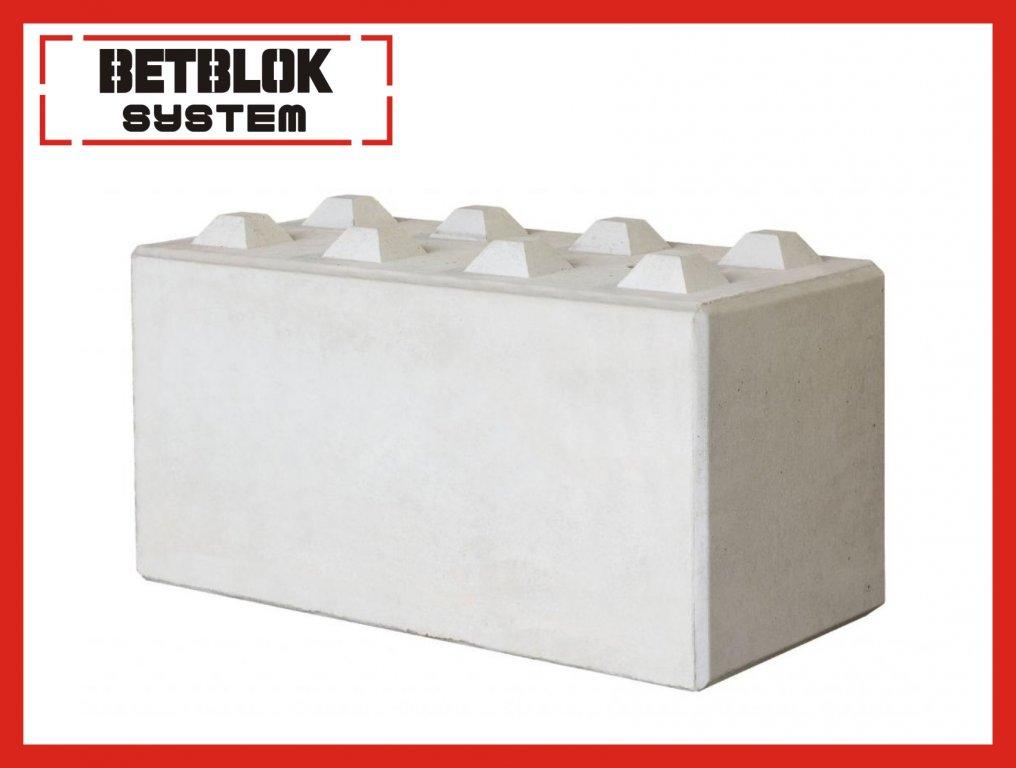 Betónový blok prefabrány, odporové steny