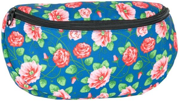 Obličky sáčok na pásové vrecko kvety módne paso