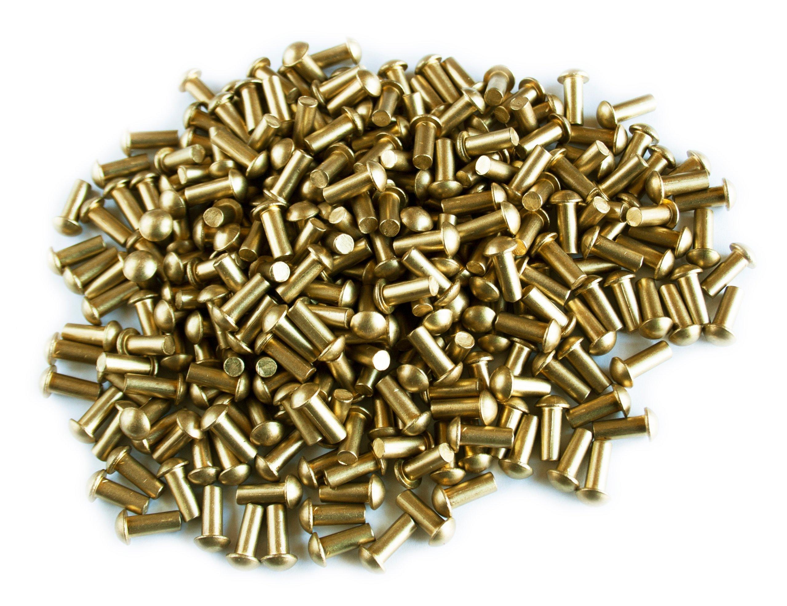 Mosadz! Mosadzné nity sférické FI 3/6 mm 50 ks.