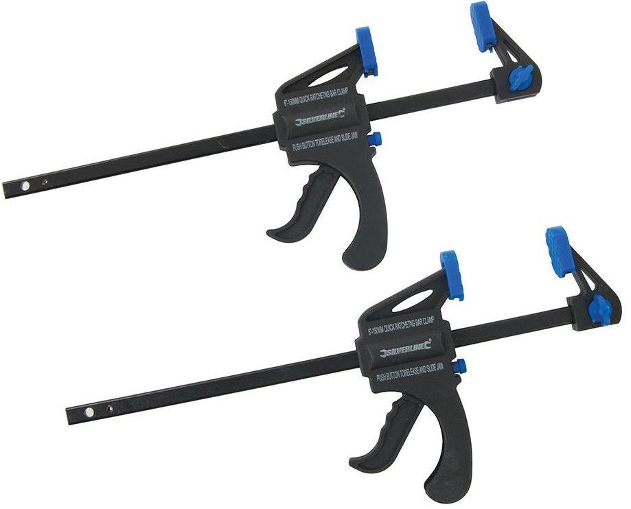 ŚCISK STOLARSKI JEDNORĘCZNY DWUPAK 150mm