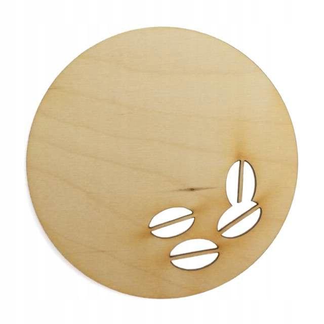 Drevená podložka pre nápoje Káva Seeds Decoupa
