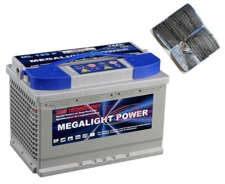 Thermotrousers MEGAlight AGM batérie 75 Ah, POTRAVINY, JACHTY