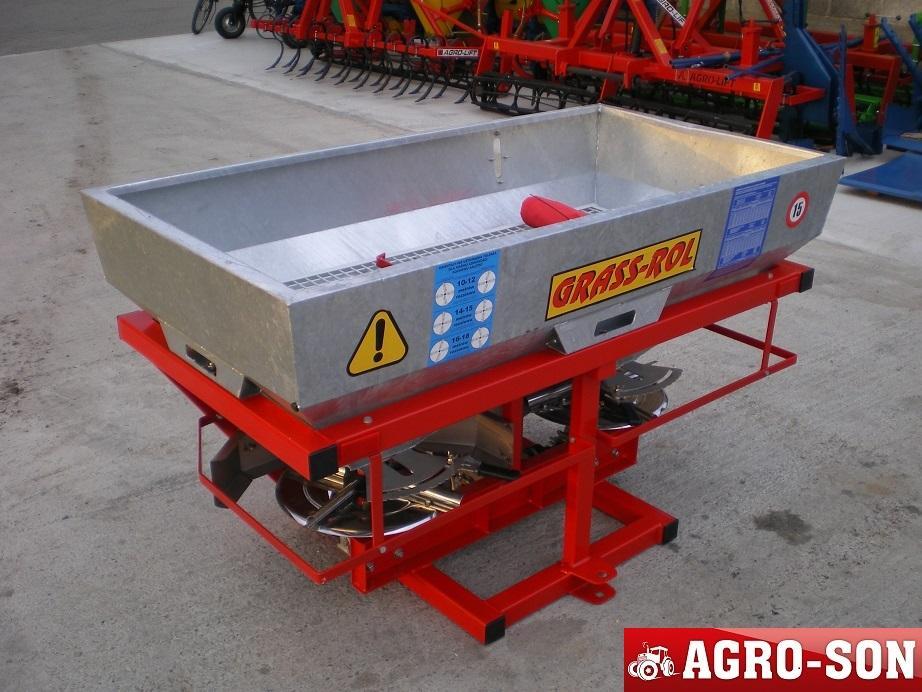 Разбрасыватель удобрений 600 кг Grass-rol надежный оцинкованный