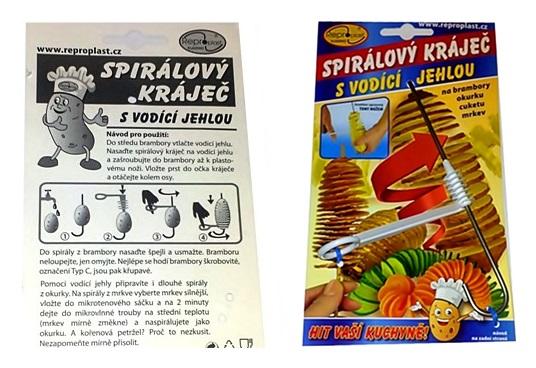 Špirálové rezačky nôž rezbárstvo zeleninové dekorácie