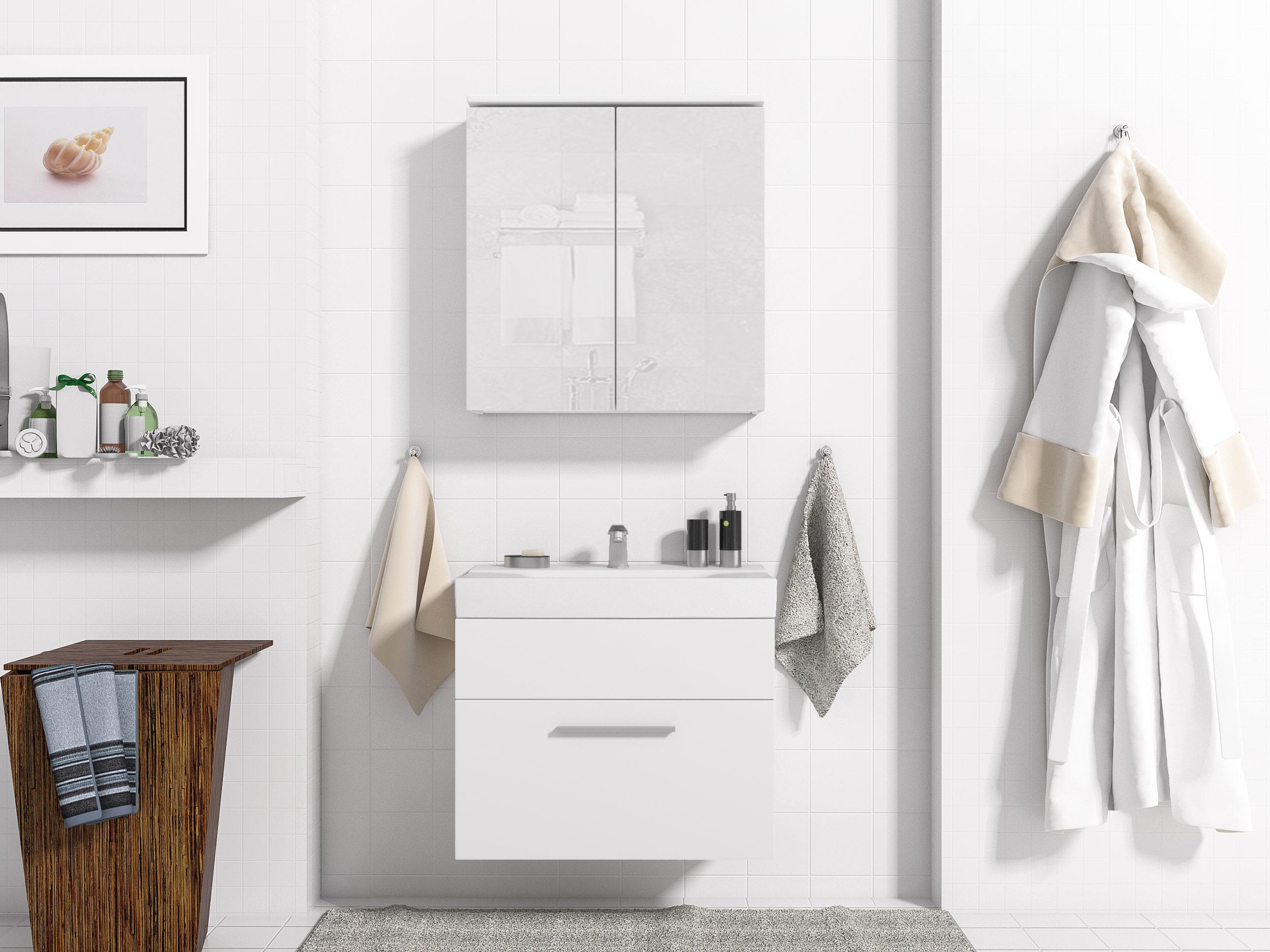 Nábytok pre kúpeľňa SEN 2 skriňa, zrkadlo MEBLINE
