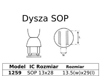 Spájkovacia dýza HotAir SOP 13x28 1259
