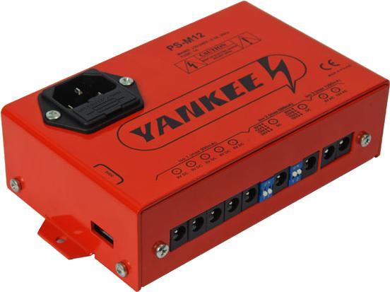 Napájanie pre mnoho gitarových efektov Yankee PS-M12