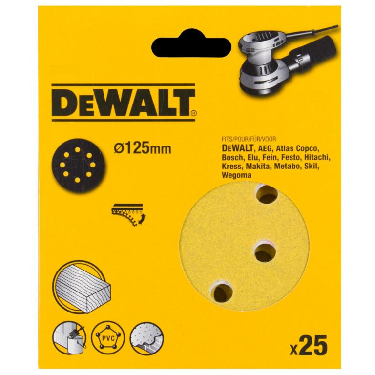 DEWALT DT3116 P180 PAPIER 125mm 25ks pre DWE6423