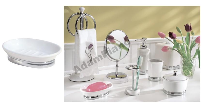 YORK SOAP keramický interDesign USA biela