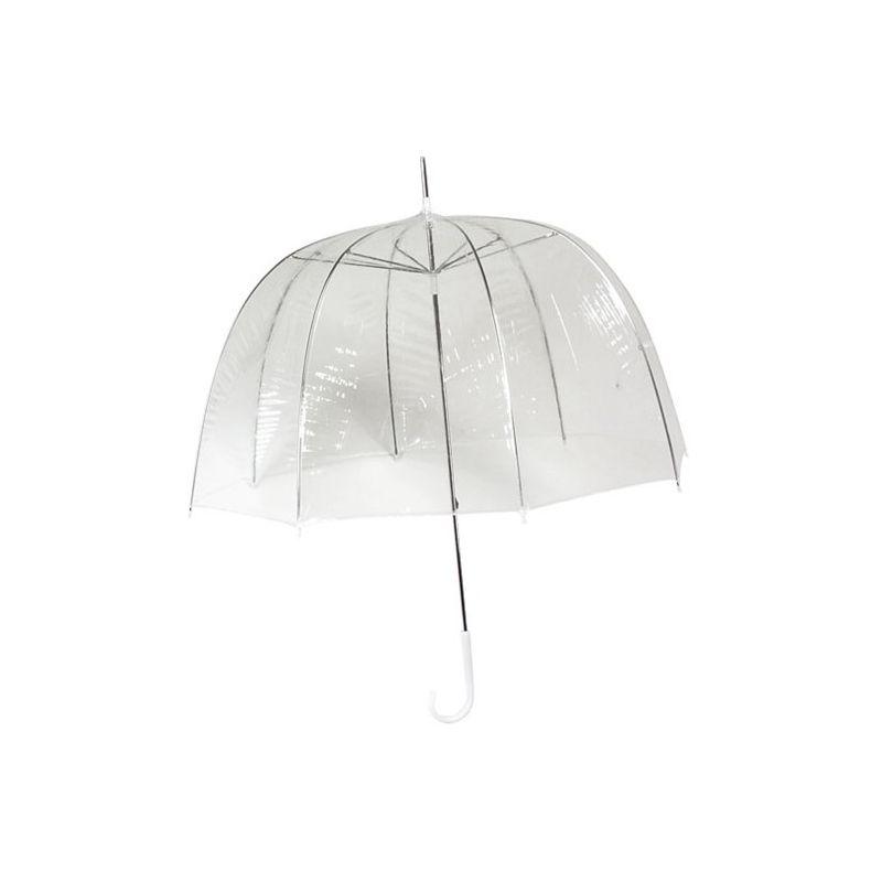 Hlboký transparentný dámsky dáždnik, slnečníky