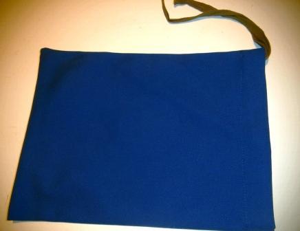 Vojenská taška na ruku, modrá, viazaná
