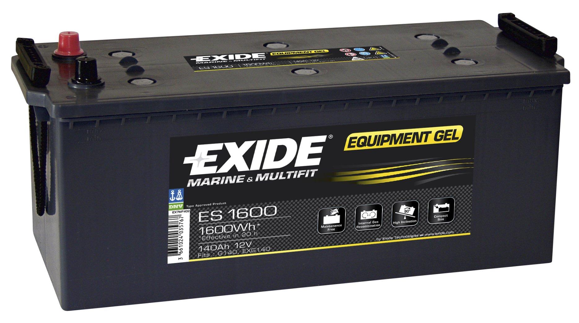 1600Wh batérie 140Ah Exide GEL ES1600 Torun