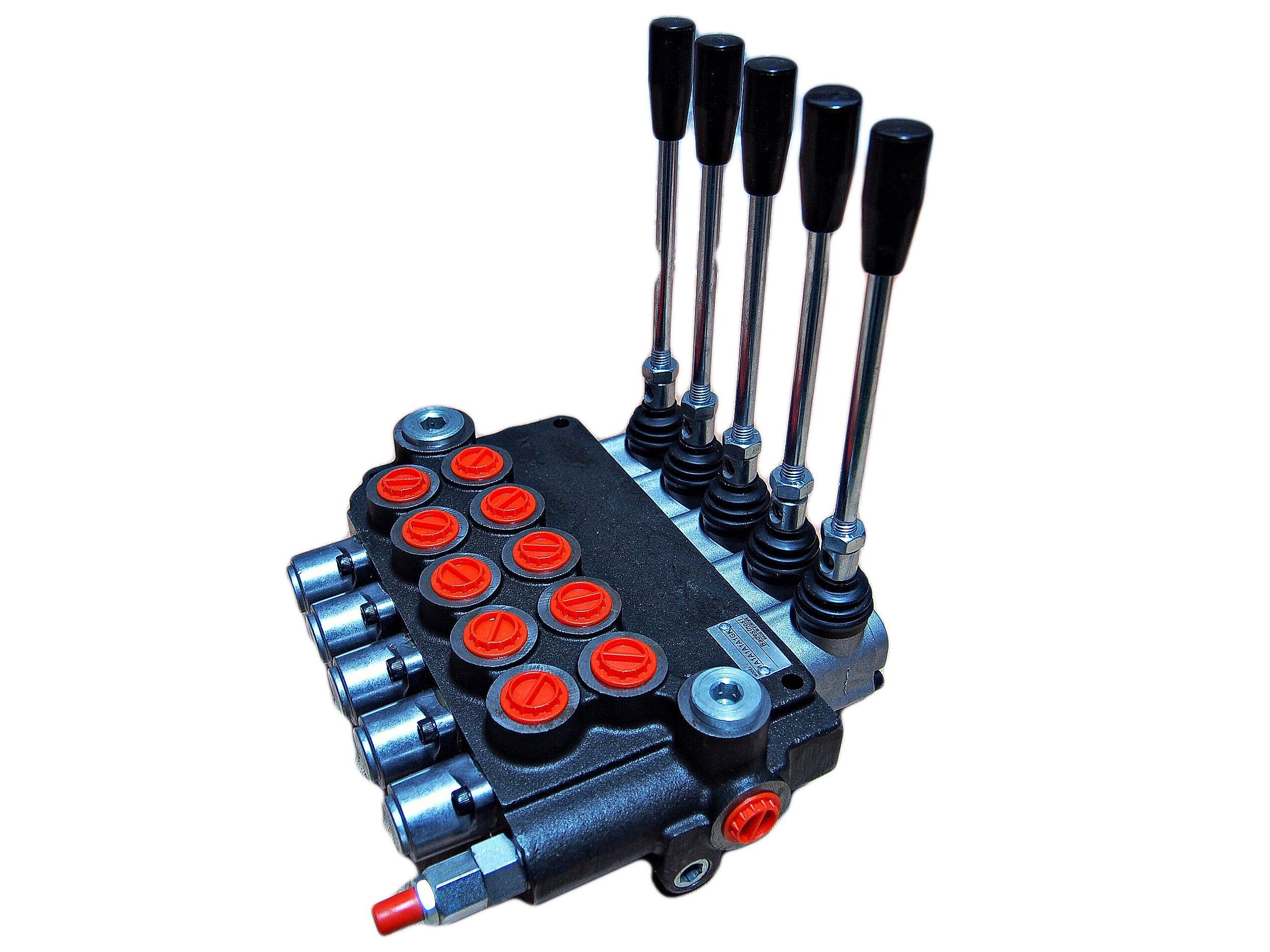 Hydraulický distribútor 80l 5 sekcie