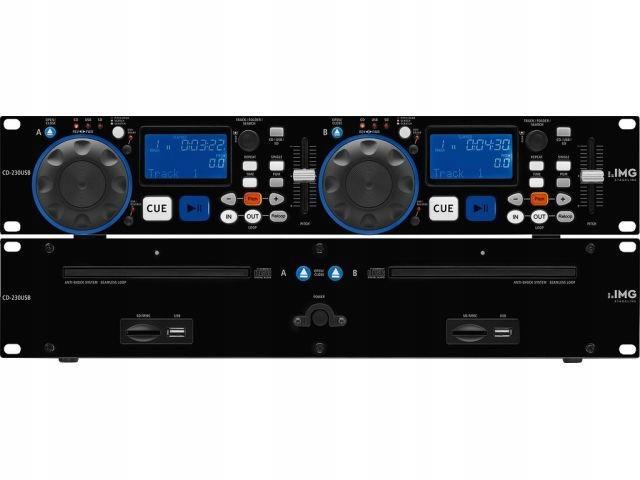 Item Monacor CD-230USB - Dual CD/MP3 player, DJ