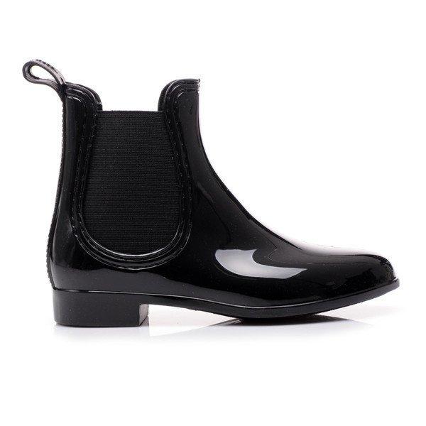 ЧЕРНЫЕ Дождливые ботинки Ботинки с резиновыми ботинками r31