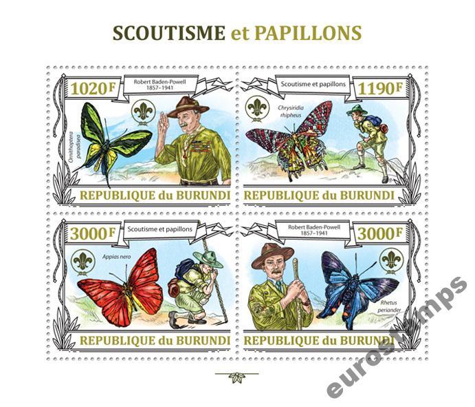 Scouting motýle Baden-Powell Burundi Ark Bur13203A
