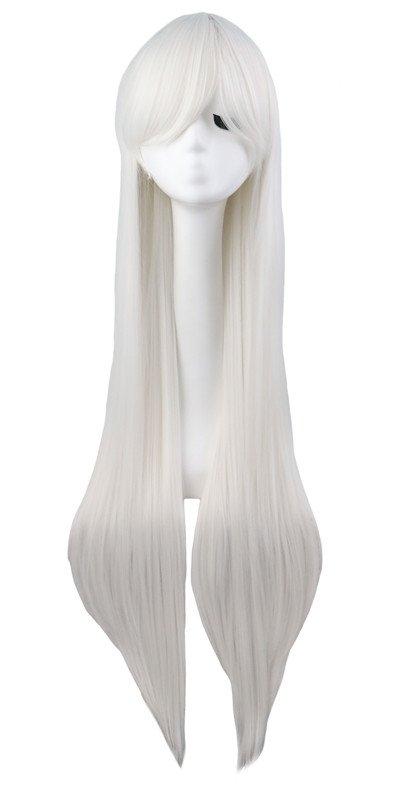 Cosplay wig 100 cm anime manga dlhá biela