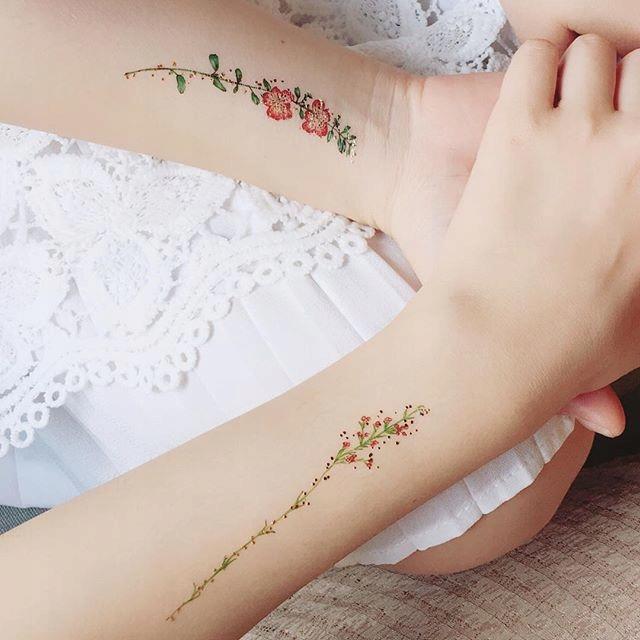 Paperself tetovanie kvet Vintage štýl Kvet