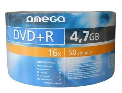 Item Plate Omega DVD+R 4,7 GB x16 50 PCs + Token F. VAT