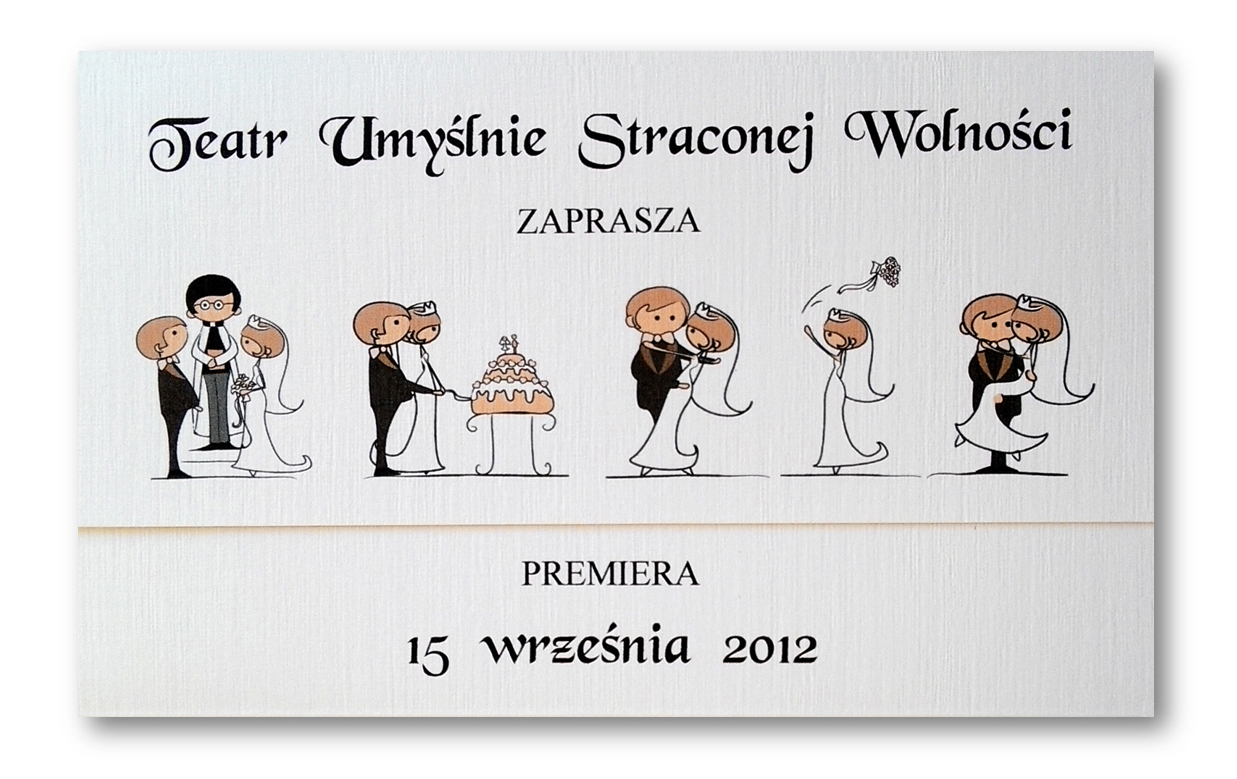 TEATR Zaproszenia ŚLUBNE / KamiArt / ŚLUB