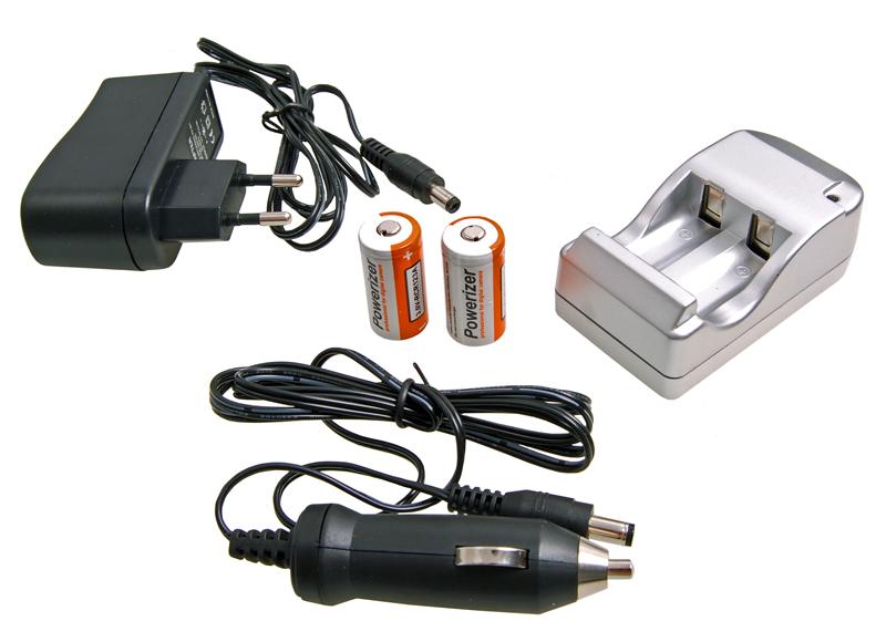 Nabíjačka Kit +2 Batérie CR-123 A CR123