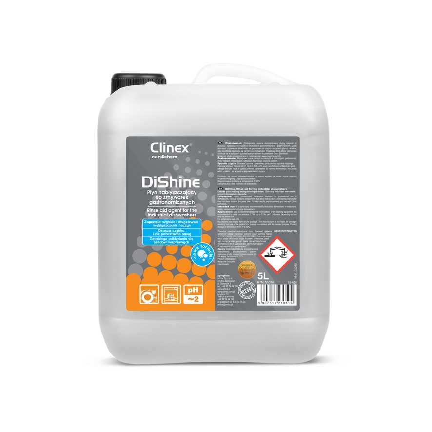 CLINEX DiShine 5L Kvapaliny-opláchnite pomoci pre umývačky riadu