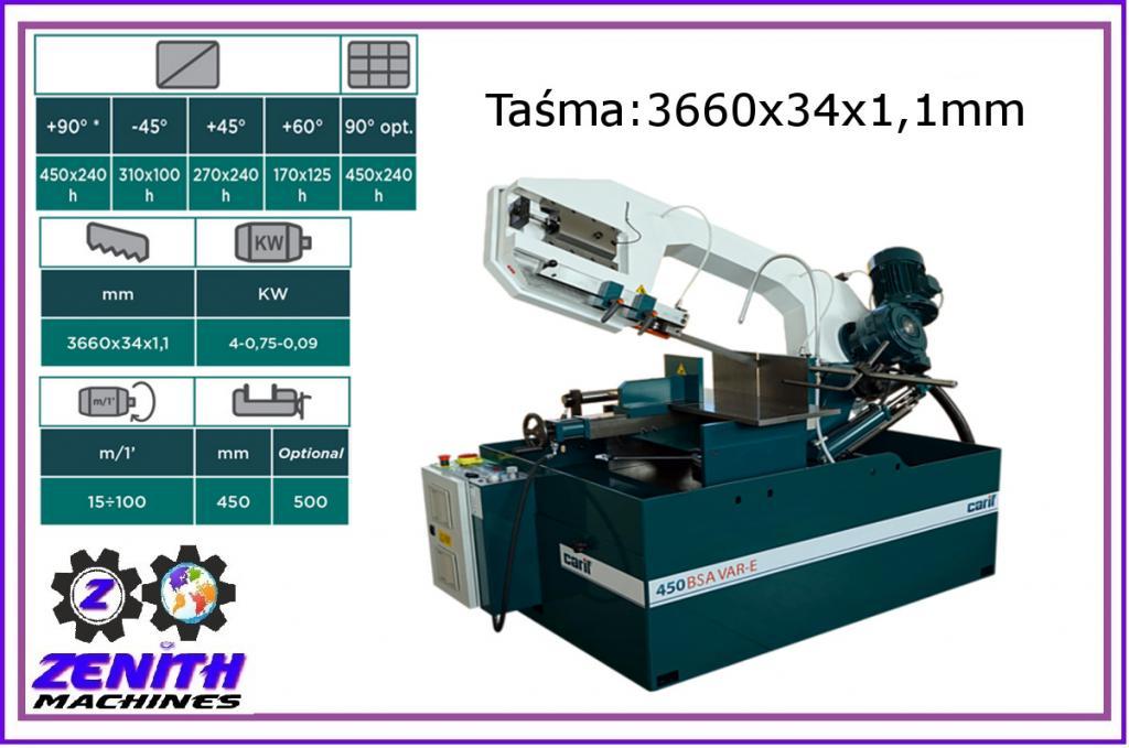 CARIF 450 BSA VAR-E páskové frézy