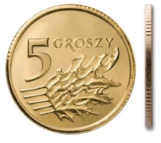 Чеканка 5 грошей 2010 г. с мешком