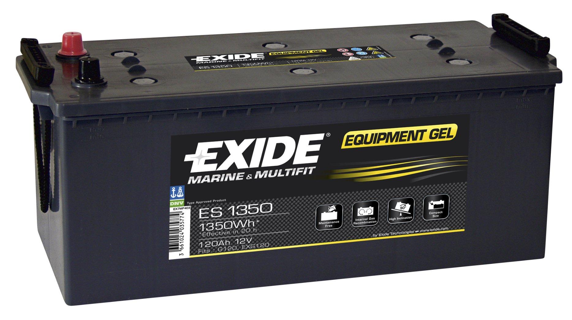 Batéria 120Ah Exide GEL 1350Wh ES1350 Wroclaw