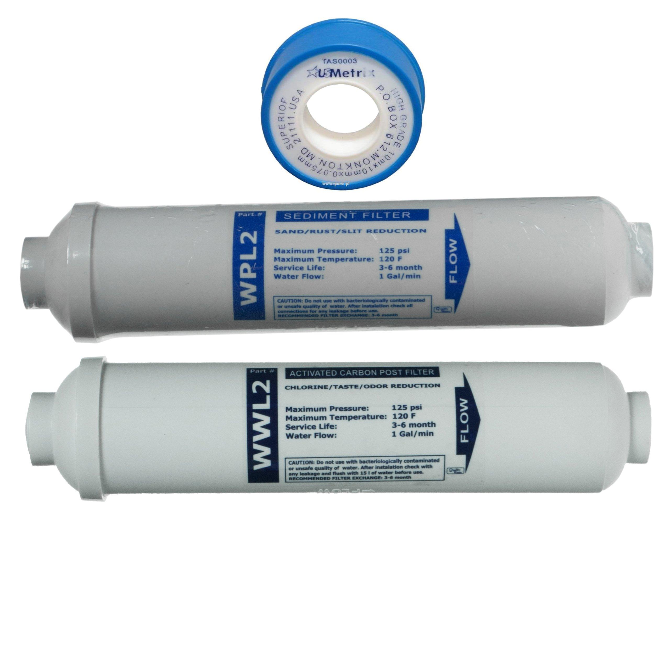 Komplet wkładów osmoza AKWARYSTYCZNA filtrów RO3