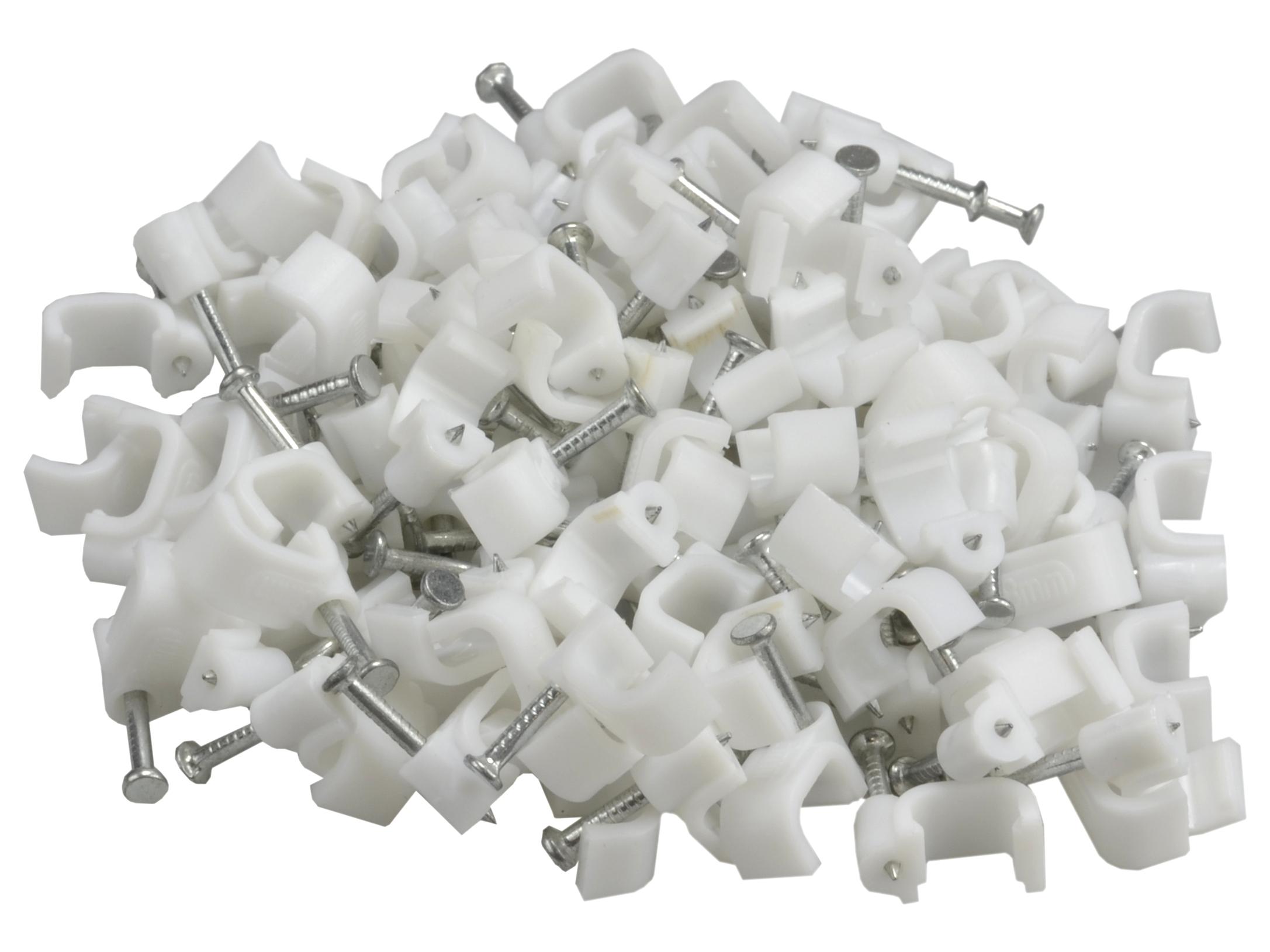 Uchwyt kabla przewodu FLOP KLIP płaski 100x 12/6mm