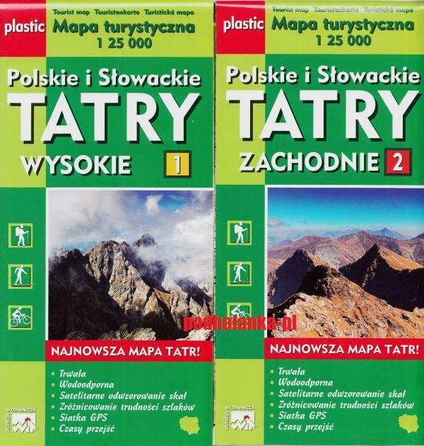 Item Tatry Zachodnie Wysokie mapa laminat NOWE WYDANIE