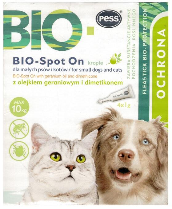 PESS био капли 4 Ампулы блох - клещей для кошки