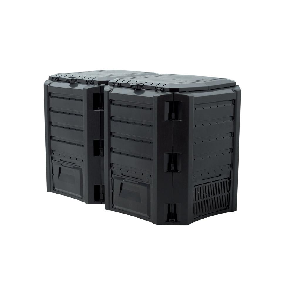 Modulárna kompozitná 800L čierna dvojkomorová
