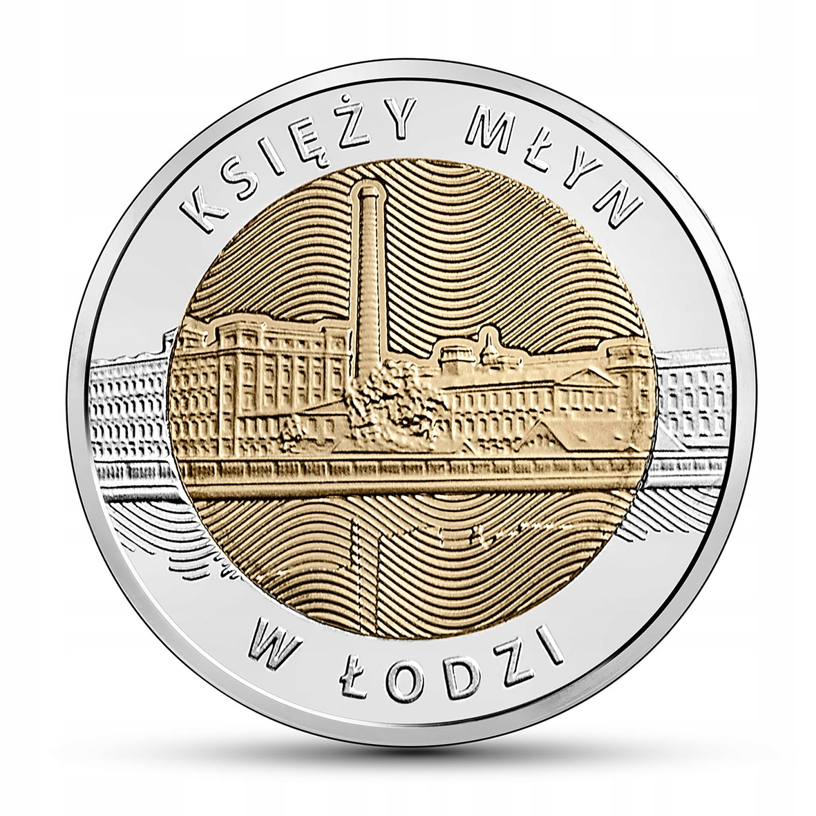 Moneta 5 zł Księży Młyn w Łodzi