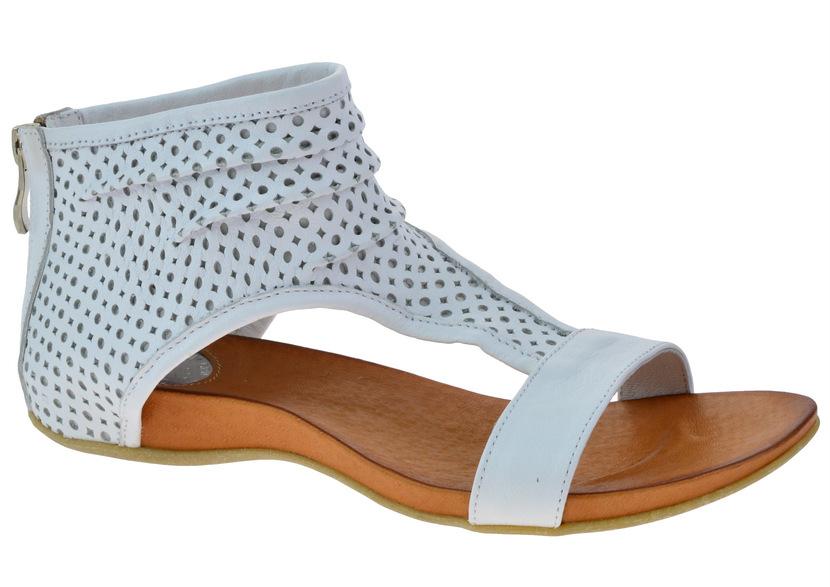 Sandały Carinii B2125 biały 38 Ażurowane Hitowe