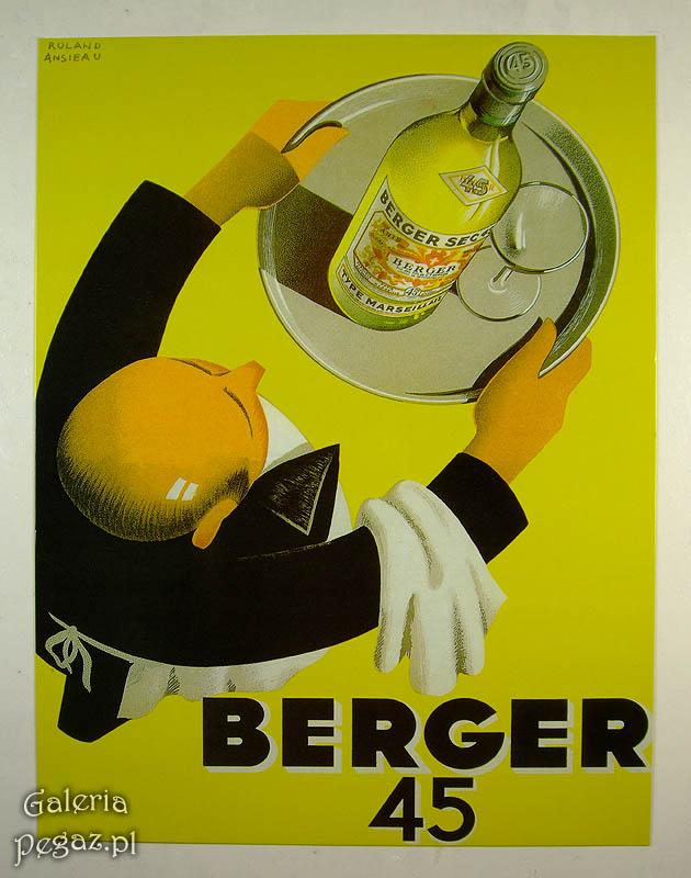 Berger 45 - retro alkoholu reklama R-n