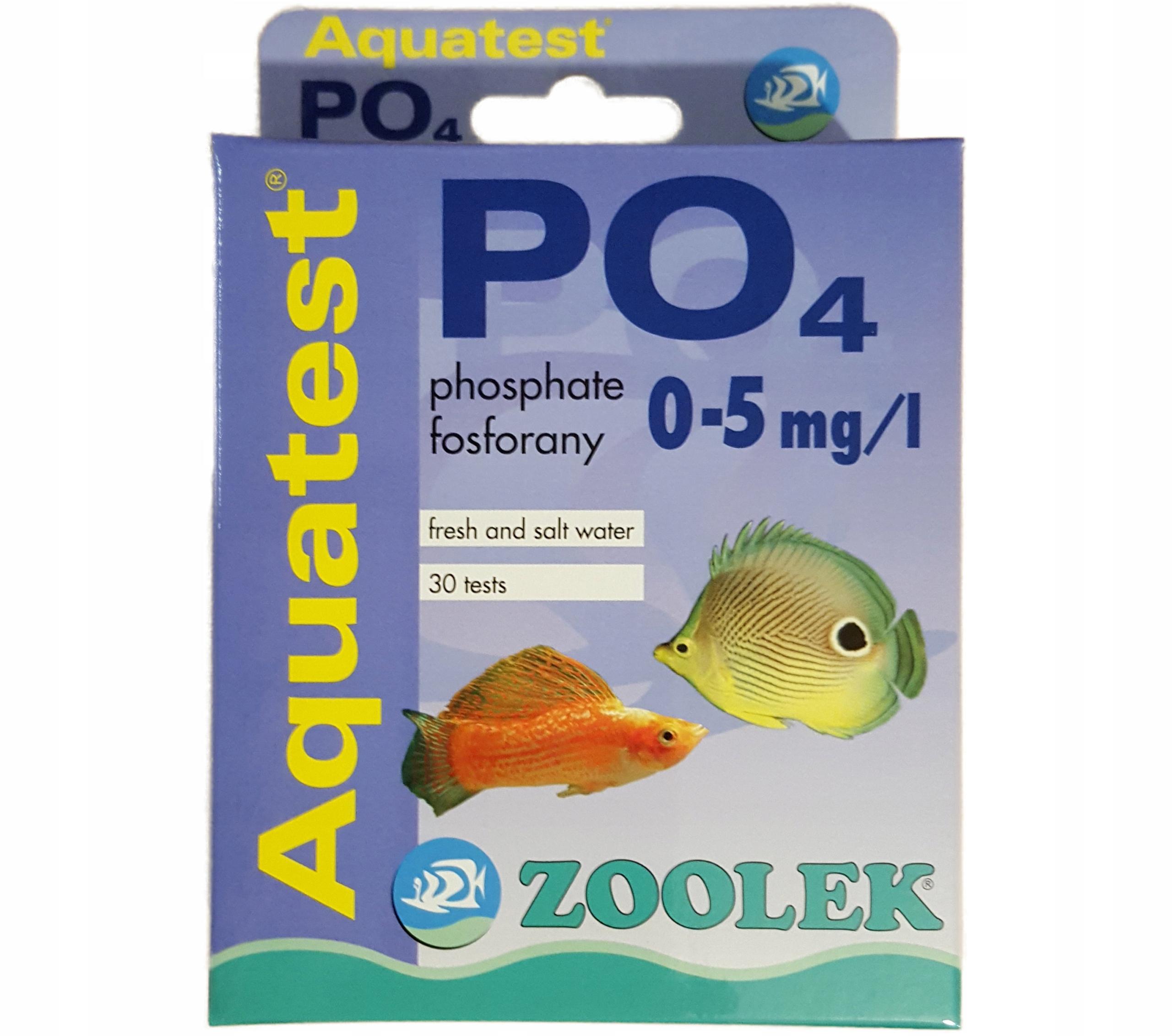 Тест для измерения PO4 фосфатов лекарство Aquatest