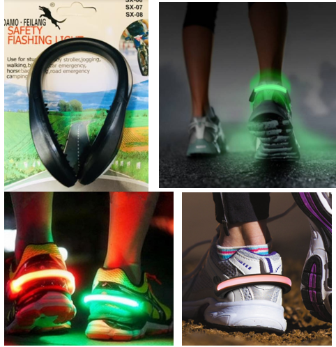 LED žiarivý pás pre beh na bežeckej topánke