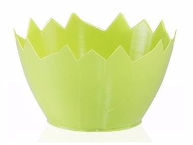 Kvetinové pot shell 9cm zelené vajcia čelenka