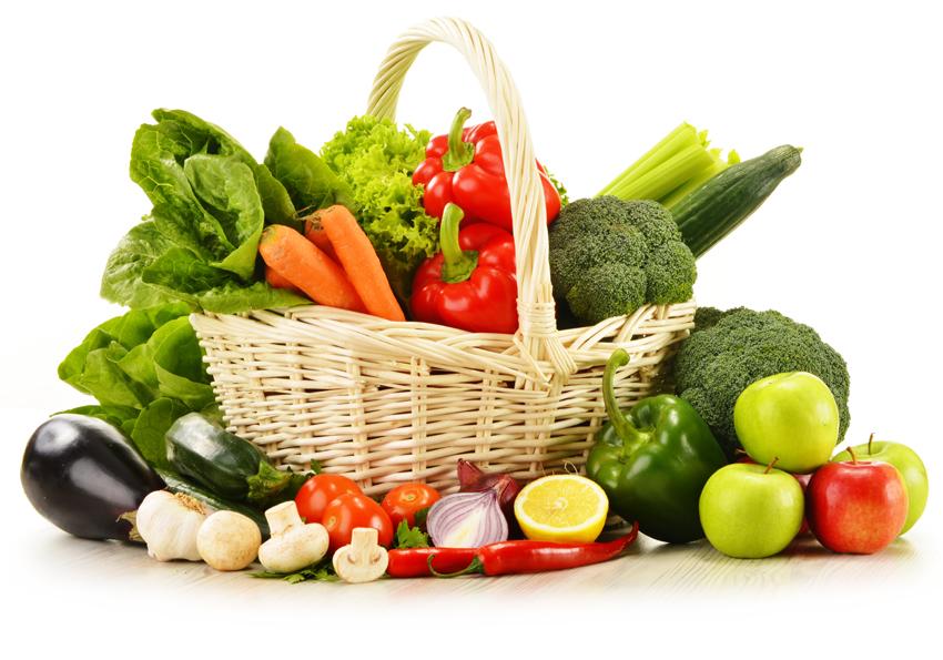 Obrazy na płótnie kosz warzyw i owoców 60x40 7408691947 - Allegro.pl