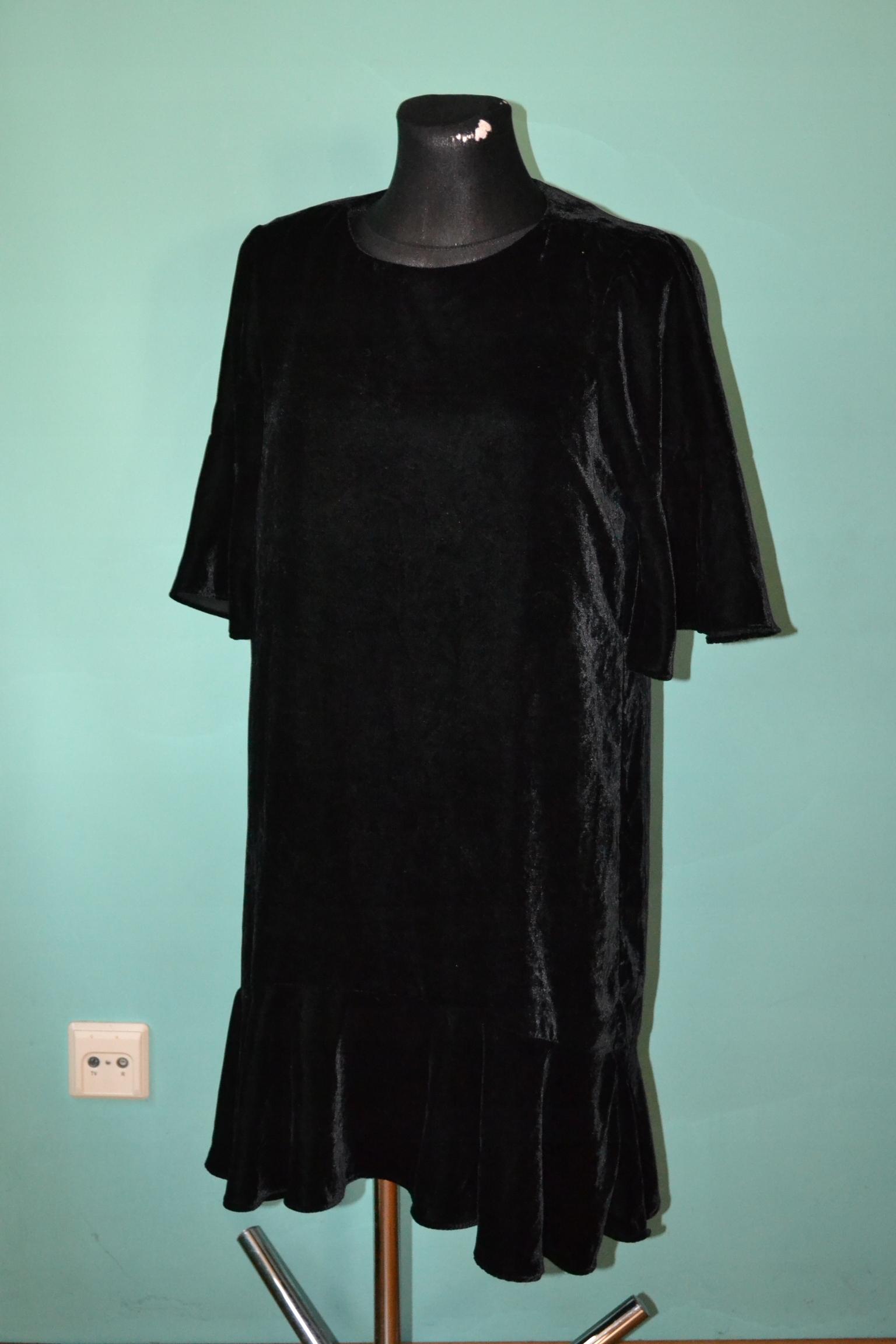 zara sukienka welurowa