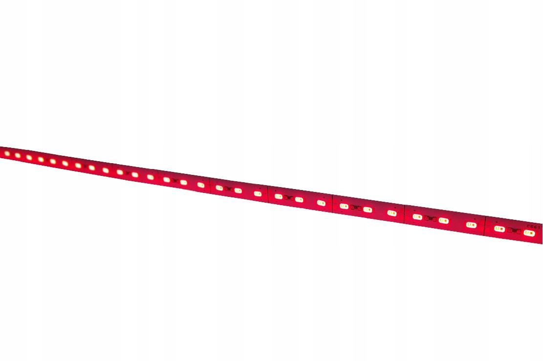 Svetlo tuhá páska 5630 72 LED červená červená tyč