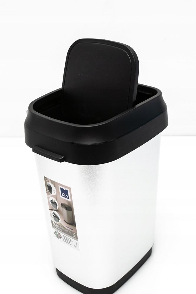KIS Kosz na śmieci DUAL SWING S srebrny - 10L