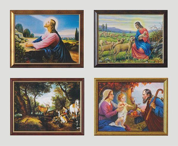 W Drodze Do Emaus Oprawiony Obraz Obraz Religia 7154436117 Allegro Pl