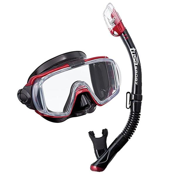 Nastaviť TUSA HyperDry VISIO (maska+šnorchel) pravopisu-červená