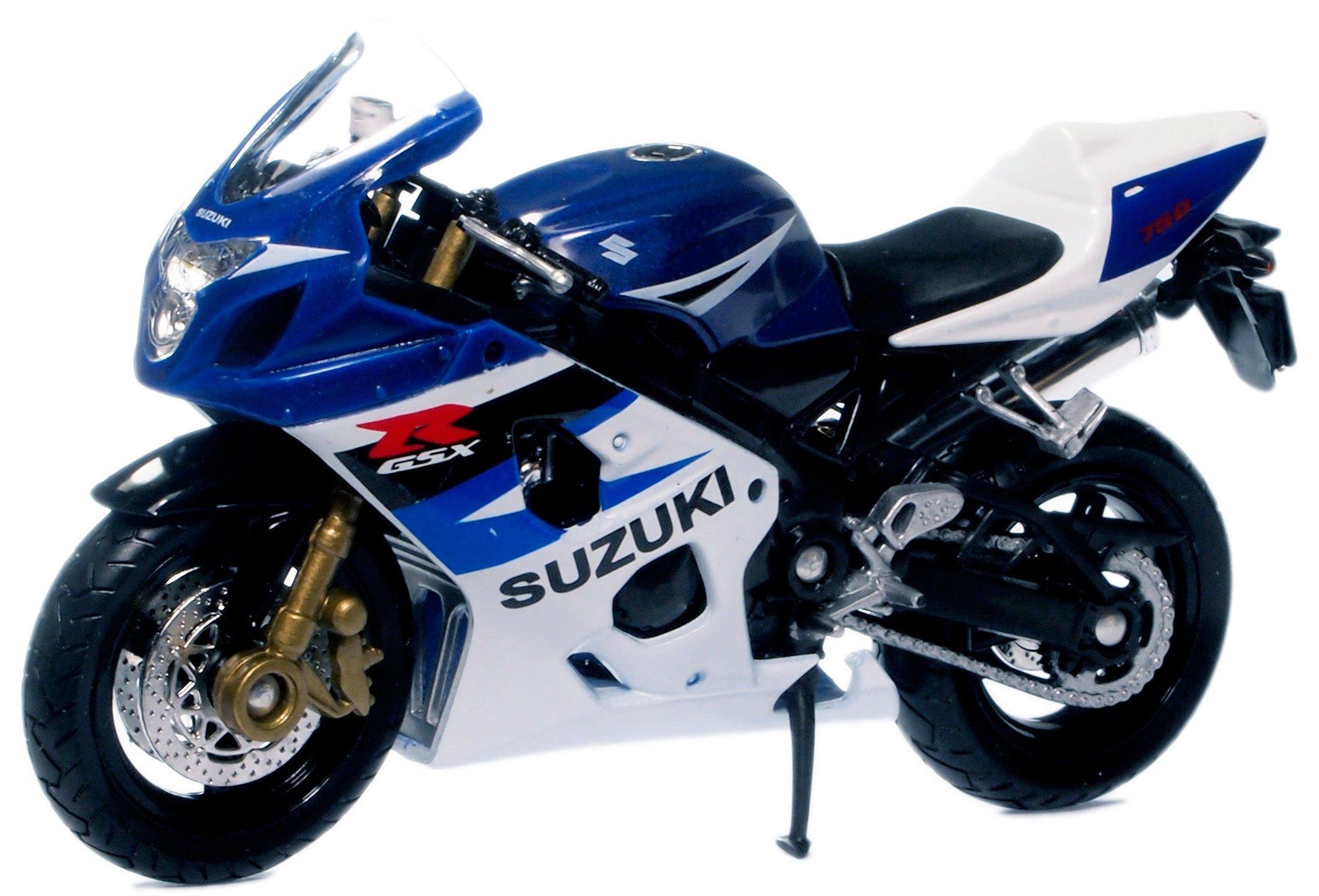 Chwalebne MOTOCYKL MOTOR SUZUKI GSX-R750 SKALA 1:18 ŚCIGACZ 7187884646 JL16