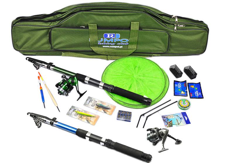 комплект рыболовный 2x удочка 2x катушка сумка z2